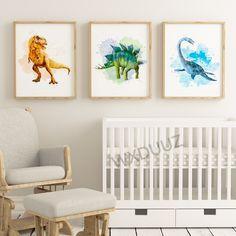 Nordic Art, Nordic Style, Kids Room Wall Art, Living Room Art, Dinosaur Posters, Dinosaur Art, Childrens Room Decor, Animal Paintings