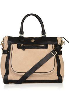 two toned handbags   handbags tote bags tory burch tote bags tory burch carlin two tone ...