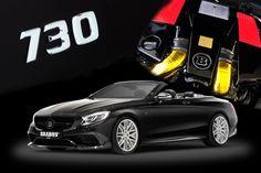 Nowość! Pakiet mocy BRABUS B63S-730.  Osiągi na bazie Mercedes-AMG S63 Cabriolet +145 hp; +165 Nm -  730 hp; 1065 Nm Prędkość maksymalna: 325 km/h  Zestaw składa się z nowych turbosprężarek, downpipe, sportowych katalizatorów oraz osłon cieplnych.  #BRABUS #AMG #Mercedes #S63Cabriolet #BRABUS730 #V8biturbo   Więcej szczegółów w Brabus JR Tuning http://www.brabus-jrtuning.pl/