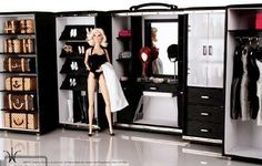 Fashion Royalty Barbie Ropero Closet Tocador Armario Muebles