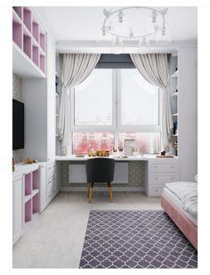 Herkese merhaba🌸 Çocuk odasi dekoruyla alakali fikir istiyordunuz😊 Kiz ç. Kids Room Design, Home Office Design, Small Room Bedroom, Home Decor Bedroom, Study Room Decor, Girl Bedroom Designs, Dream Rooms, My New Room, Girl Room