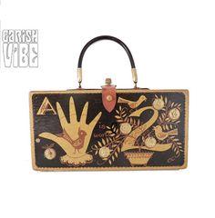 Vintage ENID COLLINS Bag | FAB Bird Theme Vintage Wood Bag 1960s Box Purse on Etsy, 2 363:27 kr