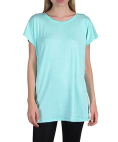 Look at this Mint Cape-Sleeve Tunic - Women on #zulily today!