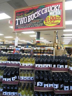 As of 2012, Trader Joe's has sold more than 600 million bottles of its popular Two-Buck Chuck wine. - oh, I sooo miss 2 buck chuck!