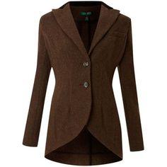 Lauren by Ralph Lauren Harris 2 button wool jacket - Lauren... - Polyvore