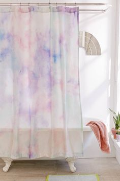 Rainbow Dye Shower Curtain | Urban Outfitters