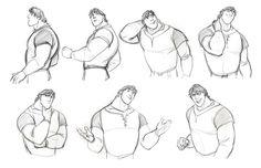 Sketches de Jin Kim para o filme Enrolados