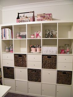 Kylie's craft room featuring SLB turntables and buckets :) Inspiration