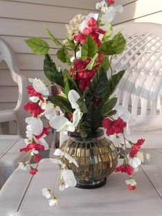 96 best christmas silk flower arrangements images on pinterest elegant silk flower arrangement mightylinksfo