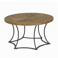 """OLLIIX - Olivia Coffee Table 32x18""""H Light Brown/Black"""