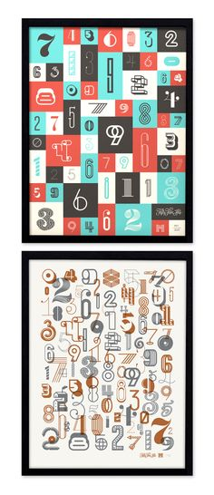 The Numbers Posters by Michael Spitz (via Creattica)
