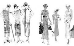 "A graphic from the Art Deco Society of California's ""How to Gatsby"" page show the difference between the silhouette (left) and that of the (right)LIKELY UNDER COPYRIGHT Modest Summer Outfits, Summer Outfits For Teens, Art Deco Fashion, Vintage Fashion, Tea Gown, 1920s Outfits, Old Hollywood Style, Fashion Silhouette, Modern History"