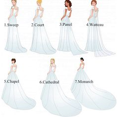 7 Different Types Of Wedding Dress Trains