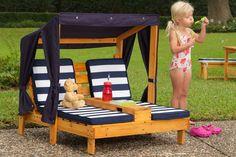 Vente KIDKRAFT / 24175 / Trains et extérieur / Double chaise longue en bois