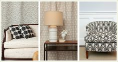 #upholstery I love both upholstered pieces, brilliant choice of fabric with each piece.