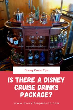 Disney Cruise Expert Tips. Are you sailing on a Disney Cruise and want to know if there is a drihking package onobard. Here the truth about drinking on a Disney Cruise. #DisneyCruise #DisneyCruiseTips #CruiseTips Disney Cruise Europe, Disney Wonder Cruise, Disney Cruise Tips, Disney Vacations, Family Vacations, Cruise Vacation, Vacation Destinations, Family Travel, Disneyland Food