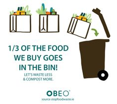 Stop wasting food and when you do be sure to recycle it. #FoodWaste #Compost #Recycling