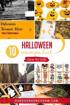 Halloween scavenger hunts for toddlers and preschoolers. 10 spooky-fun hunts with pumpkins, spiders, monsters, ghosts and decorations that are quick and easy to set up. #toddleractivities #preschooleractivities Outdoor Activities For Toddlers, Autumn Activities For Kids, Gross Motor Activities, Sensory Activities, Hands On Activities, Infant Activities, Halloween Activities, Halloween Scavenger Hunt, Scavenger Hunt For Kids