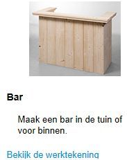 Doe het zelf bouwtekening voor een bar van steigerhout als tuinbar of huisbar.