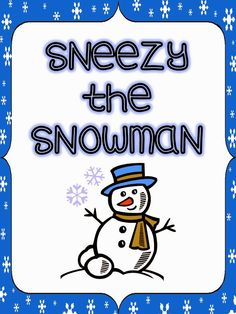 I created this foldable to use after reading Sneezy the Snowman. Copy pages front to back and have students cut along the dotted line. Open the flap and write and draw what happened first, next, then and last. Winter Fun, Winter Theme, Winter Christmas, Winter Holidays, Winter Ideas, Snow Activities, Christmas Activities, Kindergarten Activities, Kindergarten Reading