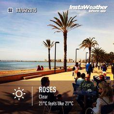 Temperatura ideal #aRoses per fer un passeig! #incostabrava #visitroses