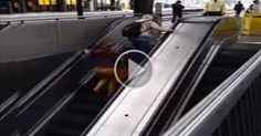 you should not run against an escalator   #Videos #Animated #Funny #Amazing  #Animals #Awesome #comedy #Crazy #Car crashes #Stunt #Prank #Horror #Robbery #humor #Informative