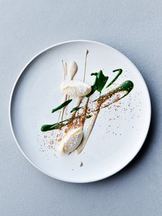 Dried potato, almond, and parsley by chef Matt Orlando of Amass, Copenhagen. © Dylan + Jeni - See more at: http://theartofplating.com/editorial/dylan-jeni-seeing-the-world-as-two/#sthash.j3A6zb8j.dpuf
