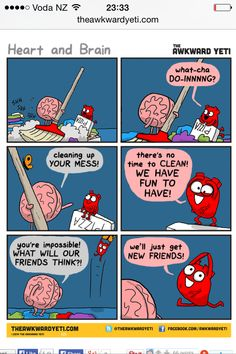 The heart and brain comic