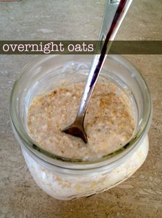 Overnight Oats #recipe - creamy yogurt goodness, rolled oats and your favorite fruity toppings