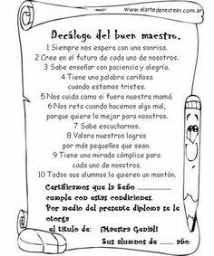 Mi Escuela Divertida: Diplomas para el Día del maestro