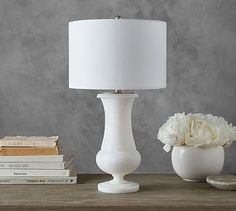 Riley Glowing Alabaster Table Lamp #potterybarn