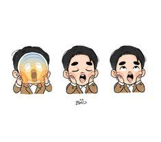 #EXO D.O. #EXOFANART #DOHKYUNGSOO #어디에도_없을_완벽한_EXO  #weareoneEXO #엑소 D O Exo, Exo Do, Kyungsoo, Exo Cartoon, Exo Stickers, Kpop Anime, Exo Fan Art, Kawaii, Exo Memes