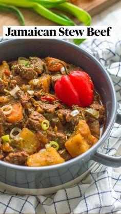 Jamaican Recipes, Beef Recipes, Vegetarian Recipes, Healthy Recipes, Soup Recipes, Healthy Breakfasts, Chicken Recipes, Dinner Recipes, Vegetarian Barbecue