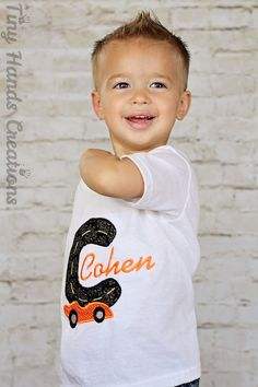 Car Alphabet Embroidery Shirt For Boys by tinyhandscreations, $22.00