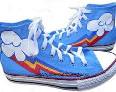 I must have these....!!!!  ANY SIZE Any Character My Little Pony Cutie Mark Custom Painted  Shoes Rainbow Dash Dr Whooves Pinkie Pie