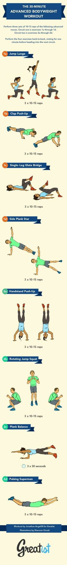 The Advanced No-Gym Bodyweight #Workout  
