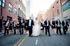 Downtown Nashville Wedding party photo {Brooke Kelly Photography}