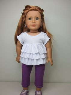 American+girl+doll+clothes++2+pc.+White+ruffle+by+JazzyDollDuds,