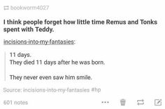 I didn't need these Remus and Tonks feels....