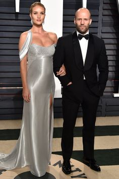 Mom-to-Be Rosie Huntington-Whiteley Sparkles with Fiancé Jason Statham at Vanity FairAfterparty