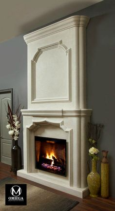 A hundred year old precision moulding technique was used by our skilled artisans in creating this mantel! Fireplace Mantels For Sale, Home Fireplace, Living Room With Fireplace, Fireplace Surrounds, Fireplace Ideas, Kitchen Hoods, Fireplace Screens, Entryway Decor, Home Goods