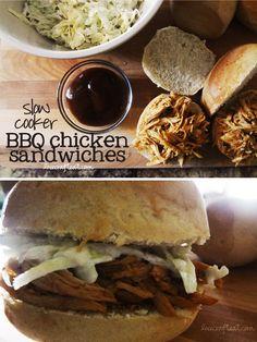 Slow Cooker BBQ Chicken Sandwiches Recipe | Live Craft Eat