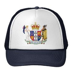Coat of Arms of New Zealand Trucker Hat