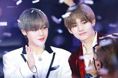 Literally 16 HD Photos of Wanna One Park Jihoon and BTS' V That will Make Your Heart Soft Like a Marshmallow Asia Artist Awards, Child Actors, Kpop, K Idol, V Taehyung, Hd Photos, Music Awards, Got7, Parks