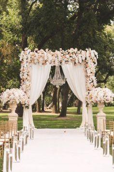 A dreamy fairytale california wedding arch