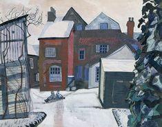 Brick House, Great Bardfield by Edward Bawden 1955 Watercolour & Gouache (Fry Art Gallery)
