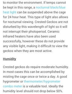 Use 'moonlight' or red nighttime reptile-specific heat lights. These are a better idea than under tank heaters, basking lamps or hot rocks for crested geckos Crested Gecko Care, Geckos, Types Of Lighting, Try Something New, Bearded Dragon, Night Time, Reptiles, Moonlight, Lamps