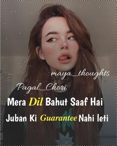 Night Quotes Thoughts, Hindi Attitude Quotes, Attitude Quotes For Boys, Girl Attitude, Attitude Status, Crazy Girl Quotes, Girly Quotes, Funny Quotes, Funny Facts