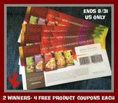 Simmering Samurai FREE Product Coupons Giveaway! 2 – Winners!  http://southernkrazed.com/2014/08/simmering-samurai-free-product-coupons-giveaway-2-winners/