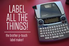 get organized   the brother p-touch label maker